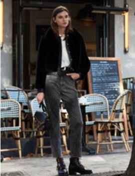 faux-fur-bomber-jacket by sandro-eshop