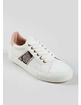faux-snake-skin-trainers by matalan