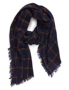 northall-plaid-wool-scarf by madewell