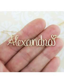 cursive-name-necklace,-custom-name,-name-jewelry,-handwriting-personalize-any-name-up-to-10-letters,-gold,-rose-gold-or-silver by etsy