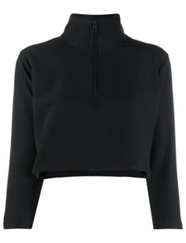 cropped-funnel-neck-top by kappa