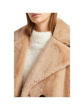annie-faux-shearling-double-breasted-coat by french-connection