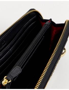 love-moschino-logo-zip-around-purse by love-moschino