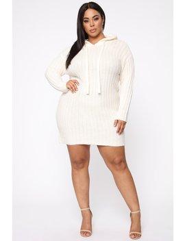 cover-me-up-sweater-dress---cream by fashion-nova