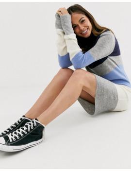 brave-soul-luna-block-stripe-sweater-dress by asos