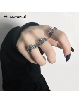 huanzhi-vintage-silver-color-metal-punk-chain-cross-open-rings-belt-buckle-design-finger-rings-for-women-men-party-jewelry-gifts by aliexpresscom