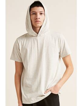 hooded-heather-knit-tee by forever-21