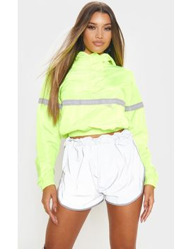 neon-yellow-shell-reflective-tape-tracksuit-jacket by prettylittlething