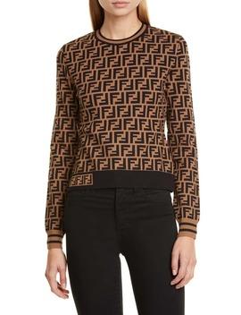 ff-logo-jacquard-sweater by fendi