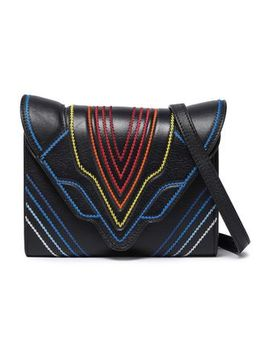 felina-embroidered-textured-leather-shoulder-bag by elena-ghisellini