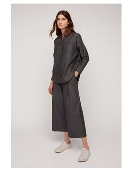 Elodie Herringbone Overshirt In Grey by People Tree