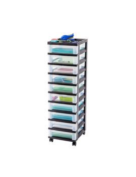 iris-10-drawer-cart-with-organizer-top by iris