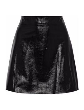 crinkled-patent-leather-mini-skirt by theory