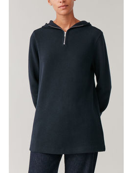 hooded-zip-up-sweater by cos