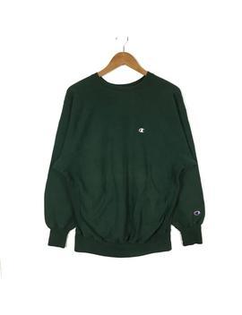 rare-!!-vintage-90s-champion-crewneck-sweatshirt-champion-reverse-weave-green-colour-pullover-jumper-size-xlarge-hip-hop-swag-streetwear by etsy