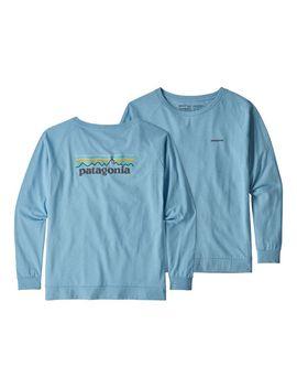 Patagonia Women's Long Sleeved Pastel P 6 Logo Responsibili Tee® by Patagonia
