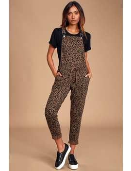 mureile-brown-leopard-print-knit-overalls by z-supply