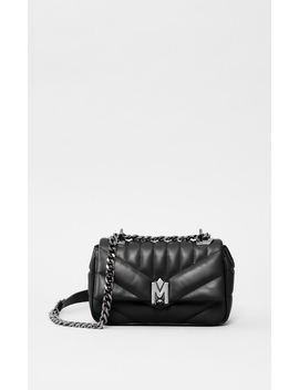 Quilted Leather Mini Shoulder Bag by Amouramour