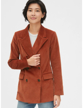 double-breasted-corduroy-blazer by gap