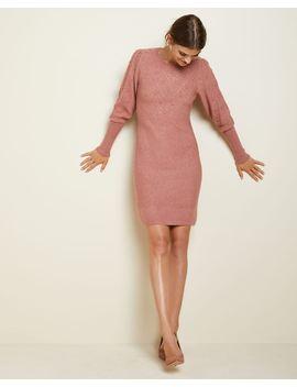 balloon-sleeve-sweater-dress by rw-&-co