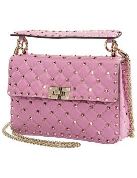 medium-rockstud-spike-shoulder-bag-pink by valentino