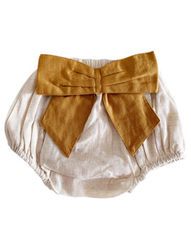 Bow Back Bloomer, Flax/Ochre by Spearmint Love