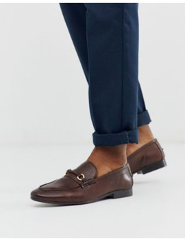 silver-street-leather-metal-bar-loafer-in-brown by asos