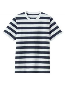 men-organic-cotton-jersey-knit-thick-stripe-crew-neck-t-shirt by muji