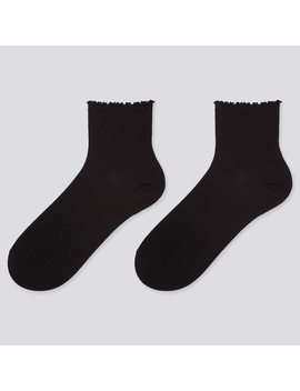 women-heattech-crew-merrow-socks-(2-pairs) by uniqlo