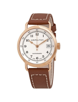 navy-pioneer-automatic-silver-dial-ladies-watch by hamilton