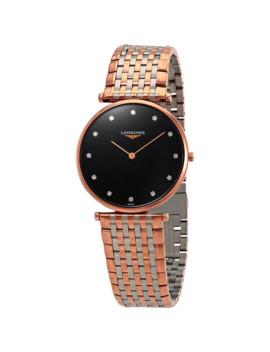 la-grande-classique-black-diamond-dial-ladies-two-tone-watch by longines