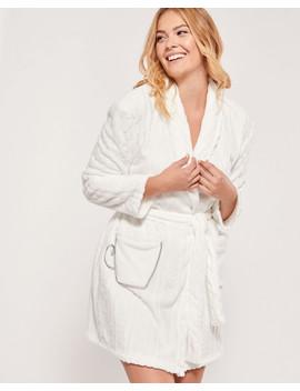 Short Fleece Robe by La Vie En Rose