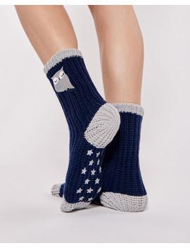 Crochet Socks With Embroidery by La Vie En Rose