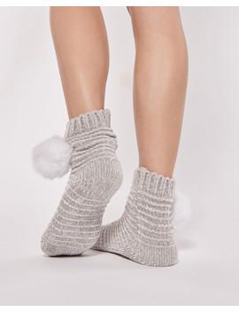 Pompom Chenille Socks by La Vie En Rose