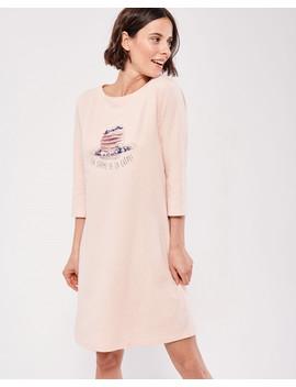 Boat Neck Sleepshirt Hooded Plush Velvet Robe Hooded Plush Velvet Robe by La Vie En Rose