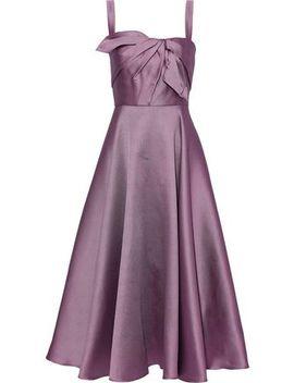 knotted-satin-piqué-midi-dress by marchesa-notte