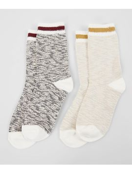 2-pack-varsity-striped-socks by bke