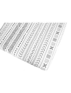 fitted-crib-sheet-white-mudcloth by loulou-lollipop