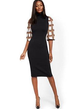 black-twofer-sweater-sheath-dress by new-york-&-company