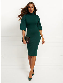 green-twofer-sweater-sheath-dress by new-york-&-company