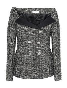 off-the-shoulder-metallic-bouclé-tweed-jacket by faith-connexion