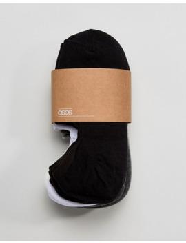 asos-design---lot-de-10-paires-de-socquettes-invisibles---monochrome---Économie by asos