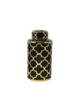 abstract-black-&-gold-ceramic-jar by pier1-imports