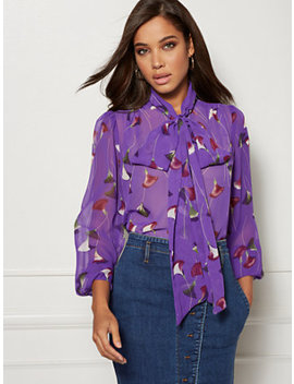 purple-isabella-bow-blouse---eva-mendes-collection by new-york-&-company
