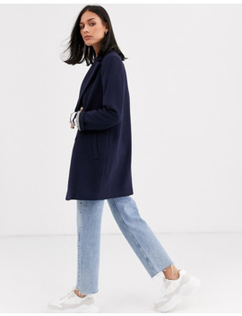 gianni-feraud-check-oversized-pea-coat-in-wool-blend by asos