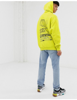 asos-design-oversized-hoodie-in-bright-green-with-global-back-print by asos-design