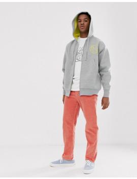 noak-zip-up-hoodie-in-gray-with-draw-cords by noak