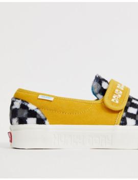 vans-x-david-bowie-hunky-dory-slip-on-plimsolls-in-yellow by vans'