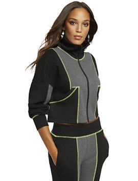 colorblock-zip-front-sweatshirt---gabrielle-union-collection by new-york-&-company