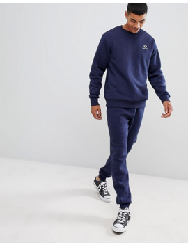 converse-small-logo-sweat-in-navy by converse